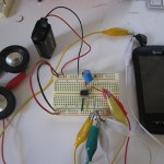 Breadboarding and testing amp circuit with speakers