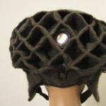 back of finished headdress, you can see the one external speaker